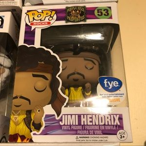 Jimmy Hendrix flaming guitar FYE exclusive funko